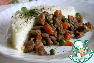 Рагу из индейки с рисом