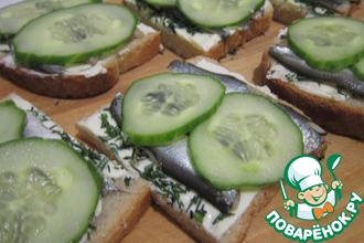 Бутерброды с балтийской килькой