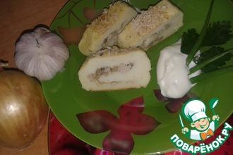 Завиванец картофельный с рыбой и луком