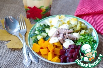 Салат из тыквы и консервированного тунца