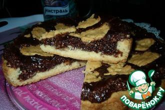 Хрустящий пирог с шоколадно-ореховой начинкой