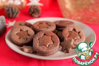 Шоколадно-карамельное печенье