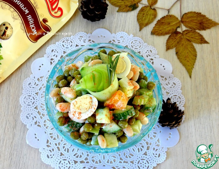 Сочный салат с мандаринами