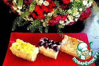 """Творожно-маковый тарт с фруктами """"Три желания"""""""