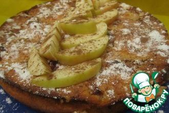 Творожно-кукурузная запеканка с яблоками