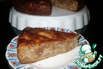 Грушевый пирог с грецкими орехами