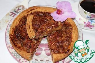 Открытый пирог с медово-ореховой начинкой