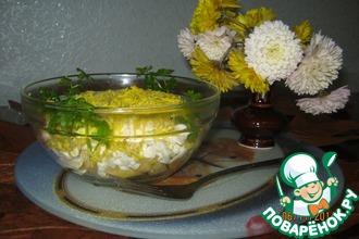 Салат с плавленым сыром и яблоком