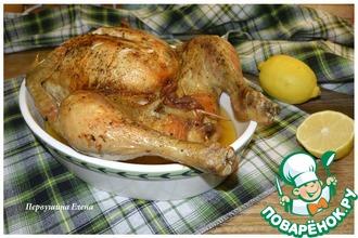 Курица чесночно-имбирная с черносливом