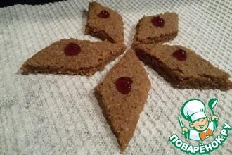 Шоколадное песочное печенье с геркулесом