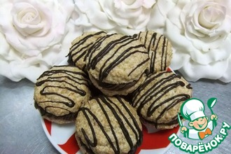Миндальное печенье с шоколадно-сырным кремом