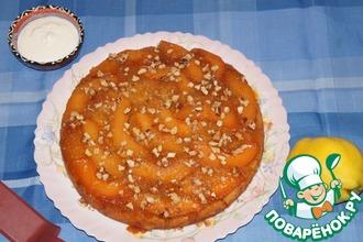 Пирог-перевертыш с айвой