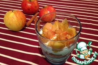 Стаканчики с творогом и тёплыми ароматными яблоками