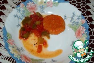 Морковные ньюкки с томатным соусом