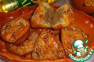 Творожные маффины с тыквой и куриной печенью