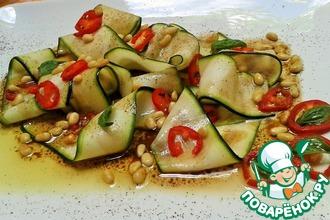 Карпаччо-салат из цуккини