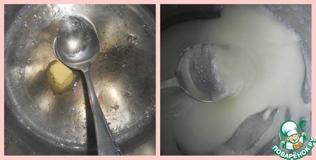 """Варим помадку. Сахар залить горячей водой, добавить уксус и варить. Если капля, спадая с ложки тянет за собой """"нитку"""", снять с огня и взбить со сливочным маслом миксером. Когда сироп начнёт белеть, влить лимонный сок и ромовую эссенцию."""