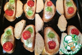 Жареные яйца в хлебе
