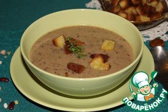 Суп-пюре из смеси бобовых с курицей