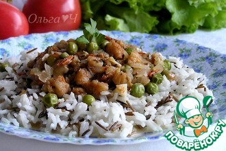 Рагу из трески с рисом