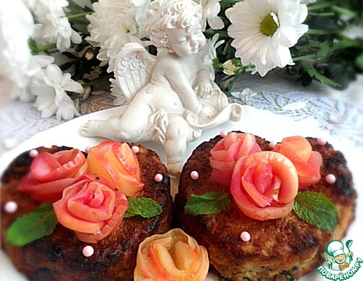 """Овсяно-творожные кексы с яблоками """"Завтрак для любимого"""""""