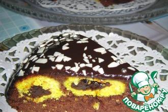 Тыквенный пирог с творожно-кокосовыми шариками
