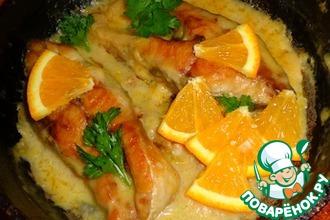 Карп, тушеный в апельсином соусе
