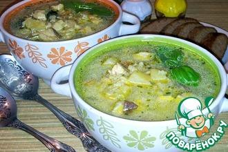 Суп с белыми грибами и курицей