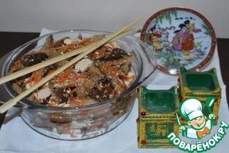 Грибной салат с тофу