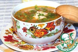 Суп куриный с томатом и сыром