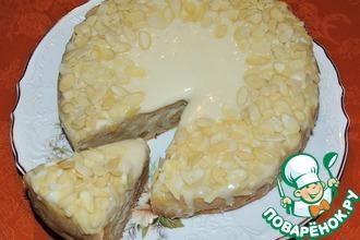 Яблочно-имбирный пирог с белым шоколадом