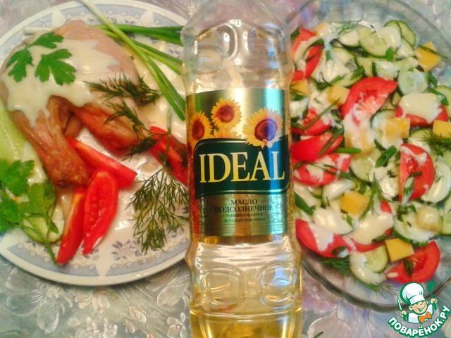 Майонез прекрасно сочетается с овощами и белковыми продуктами: мясом, птицей, рыбой...