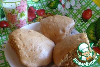 Медовые булочки с орехами на пару