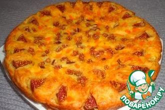 Сырный пирог с тыквой и инжиром