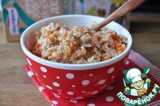 Рисовые хлопья с морковью и изюмом