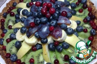Тарт с овсяными хлопьями и фруктами
