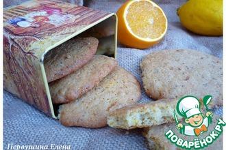 Овсяное печенье с маком и апельсиновой цедрой