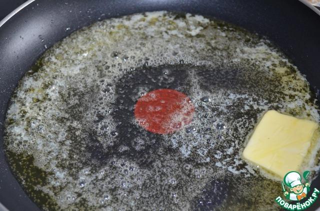 Растопить на среднем огне сливочное масло.