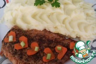 Куриный стейк на сковороде и маринад