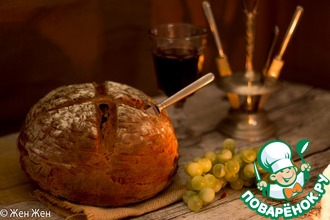 Темный хлеб на пиве с тмином и черносливом