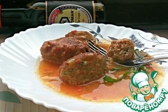 Мясные котлеты в пряном томатном соусе
