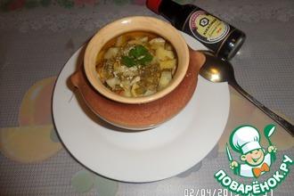 Курочка с овощами в горшочке