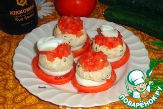 Рыбный паштет на помидорах