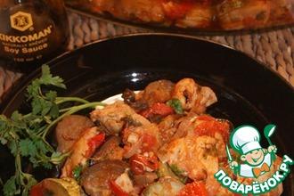 Сочное куриное филе с овощами