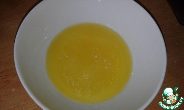 Сливочное масло растопить