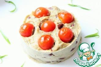 Мусс из баклажанов с красной фасолью