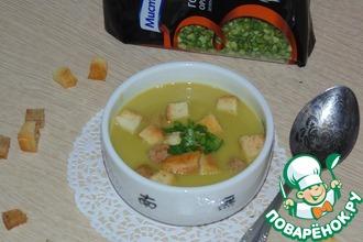 Два варианта зелёного горохового супа