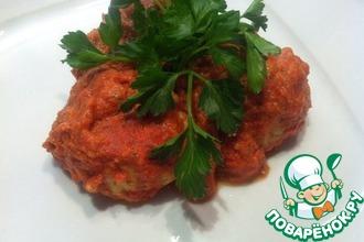 Куриные тефтели с булгуром в томатном соусе
