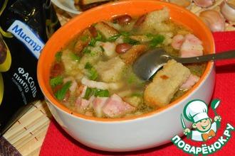 Фасолевый суп с копченой грудкой
