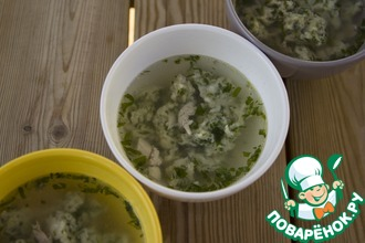 Потрясающий суп с ароматными клецками
